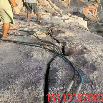 安徽滁州撑开石方快速裂开缝隙机器液压劈裂棒愚公斧怎么使用