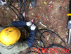 貴州黔西南路基石方工程破除硬石頭開山機使用說明
