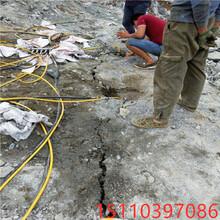 龙口城建工程开山锤破砂岩破不开用劈裂棒使用方法图片