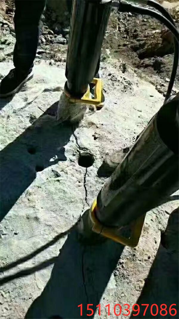 大型破碎锤都打不动的石头用液压劈裂棒西藏山南