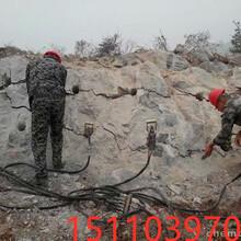 湖北黑龙江开挖花岗岩劈裂棒包子视频介绍图片