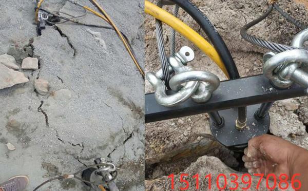 代替挖机破裂硬石头劈裂机尖山区/真好用