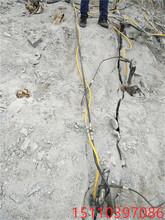平山土石方挖改式劈裂机工作流程图片
