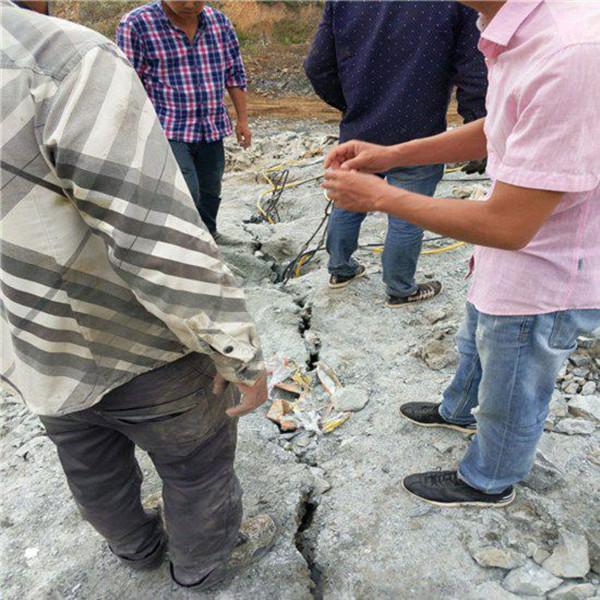 吉林延边竖井开挖石头劈裂机