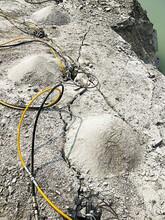 矿山开采不能放炮有什么静态破石头设备广西河池图片