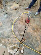 露天礦山開采劈石機湖北天門成就用戶圖片