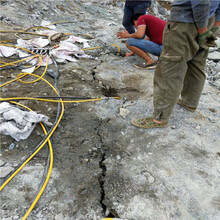 替代爆破破裂巖石的機器劈裂機廣東河源使用領域廣泛圖片