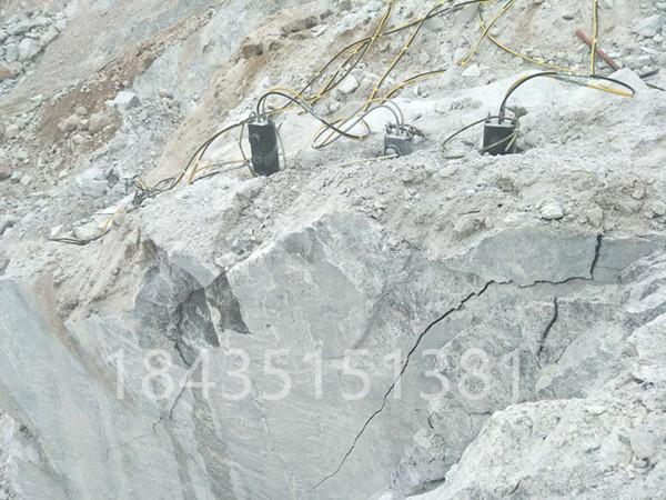 內蒙巴彥淖爾液壓無聲裂石機堅硬巖石分裂機
