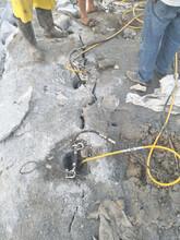 大塊巖石二次破碎劈裂機圖片