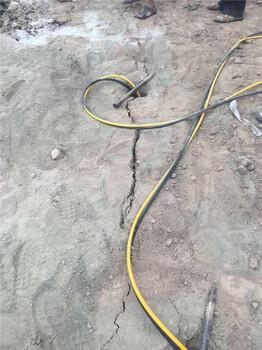 甘肅慶陽代替爆破的開山設備撐裂機
