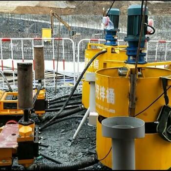 云南昆明桥梁压浆用单缸活塞式压浆泵