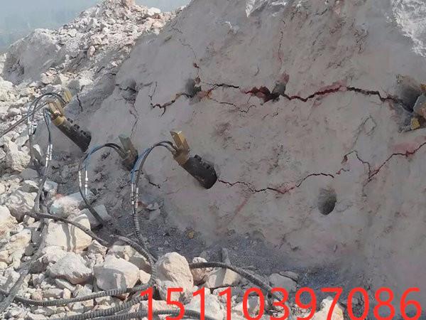 无锡市地基开挖岩石拆除破裂开山机