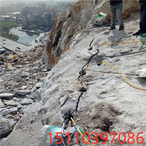 土石方撑裂岩石的机器江西吉安