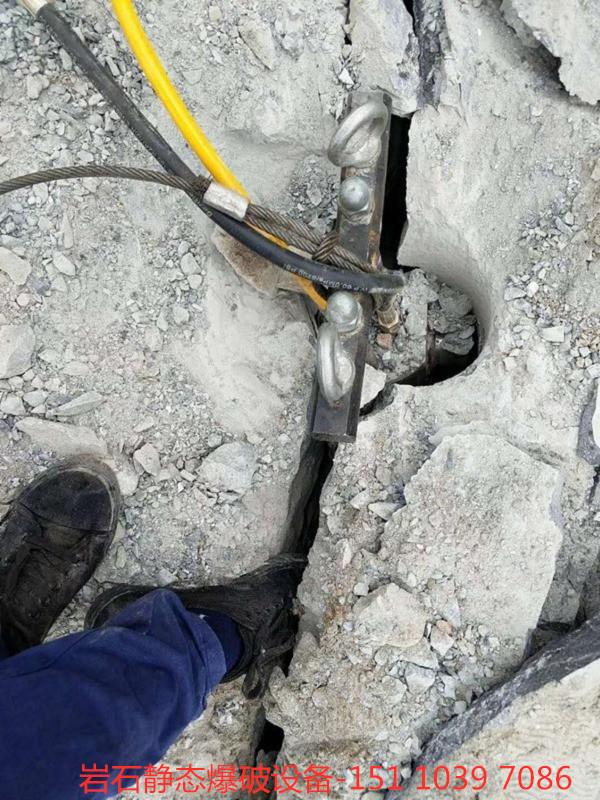 湖北鄂州取代炮機破碎石頭代替放炮機械