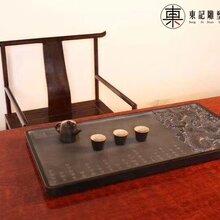 东记-新款原创专利中国龙石头茶盘乌金石茶盘何伟鹏雕刻图片