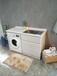 人造玉石洗衣柜组合全石材洗衣机水槽搓衣板一体柜阳台定制切角