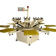 半自動轉盤CSA系列紡織印花機圓盤印花機圖片