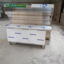 新疆自动烧烤炉户外烧烤炉不锈钢环保油烟净化烧烤车商用图片