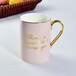 唯奧陶瓷廠批發骨瓷禮品水杯彩釉金把馬克杯咖啡杯加logo