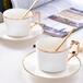 唯奧骨瓷咖啡杯碟歐式陶瓷金把下午茶杯簡約咖啡杯套裝定制logo