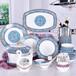 批發唯奧多高骨瓷餐具套裝陶瓷家用喬遷碗盤碟禮盒廣告促銷創意畫面