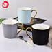 唐山唯奧陶瓷簡約陶瓷啞光馬克杯創意骨瓷金把奶杯