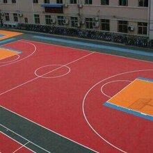 塑胶跑道篮球场施工