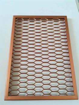 铝拉网吊顶拉网铝单板金属网格板天花厂家