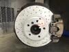宝马525Li升级原装替换盘改装英国ECFRONT打孔刹车盘