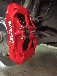 奥迪A6L提升原装分泵改装鲍鱼英国AP9660大六活塞刹车套装