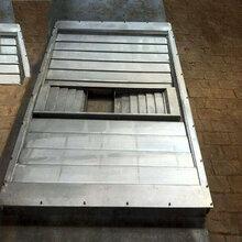 数控机床耐磨耐高温伸缩式钢板防护罩导轨钢板防护罩图片