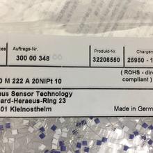 现货HeraeusPT100M222B20INPT铂电阻批发图片