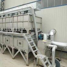 湖北喷漆房5万风量催化燃烧废气处理设备成功案例图片