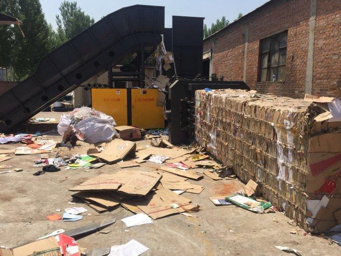 半自动卧式废纸打包机饮料瓶打包机易拉罐/生活垃圾厂家直销