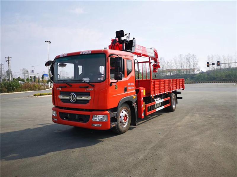 广安东风D7专底前四后八随车吊石煤吊机10吨4节臂品牌质量有保证