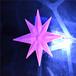 供应led挂件造型灯-北极星-八芒星-西北北区-新春装饰-粉色