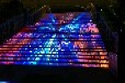 大元异形创意大元福州奥莱时代广场户外楼梯LED显示屏项目