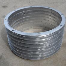 生产螺旋风管连接法兰角铁法兰法兰盘圆形法兰风机法兰图片