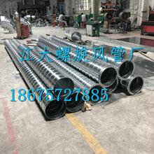 白铁皮螺旋风管排风管通风管道镀锌圆形环保排烟管厂家定制加工