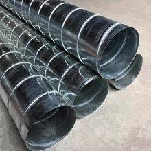白铁皮圆形排烟管通风管道排风管镀锌圆管螺旋风管镀锌板