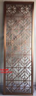 黄古铜铝板雕花中式屏风铝艺雕刻镂空中式古铜花格图片5