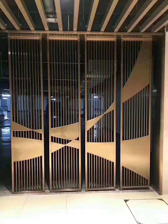 安徽中式不锈钢屏风,不锈钢中式花格屏风
