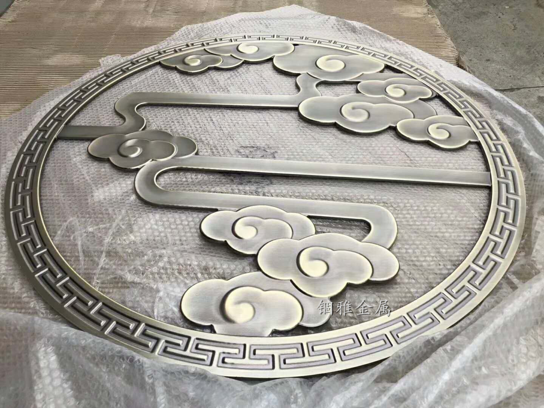 锢雅精雕仿铜拉丝铝板雕刻屏风花格