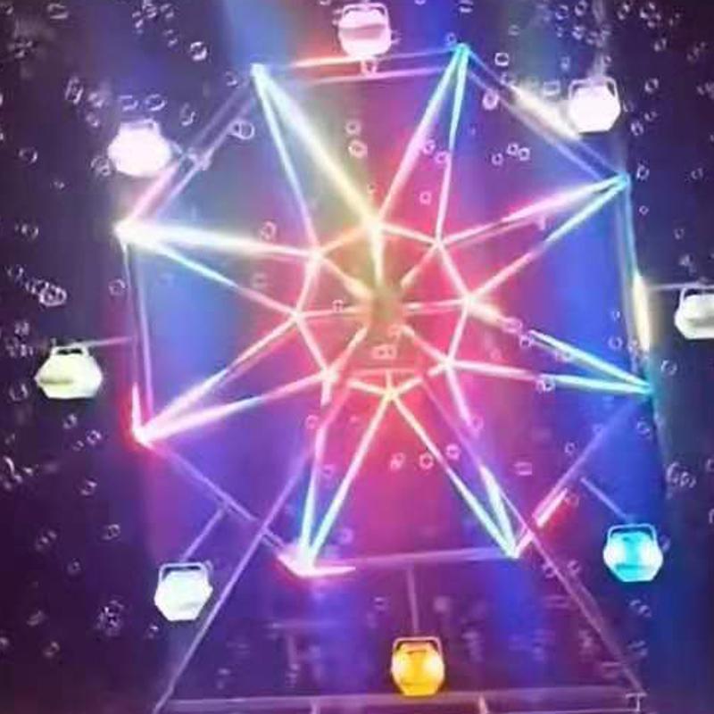 网红暖场道具360度旋转摩天轮泡泡机