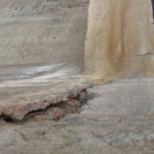 淄博混凝土泄洪洞内边墙破损修补料修补方法图片