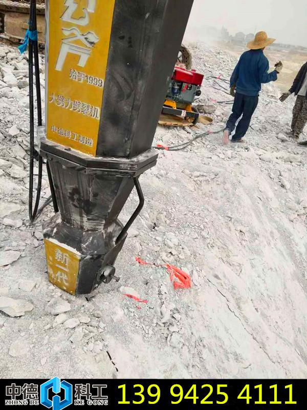 江苏南通地铁修建液压岩石破裂机开采成本图片