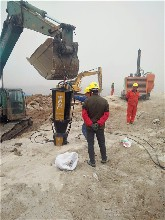 陜西寶雞挖豎井好用靜態安全的設備用液壓開石器已經解決圖片
