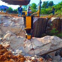 廣東廣寧風炮打不動挖溝槽破石頭機器施工方法圖片