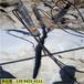 江西丰城露天采石场石英石开采破碎岩石分裂机破石头快吗