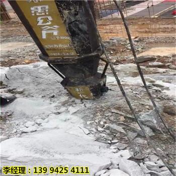 内蒙古根河市露天开采石头太硬大型劈裂机专破硬石头